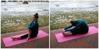 Seated poses to stretch out the legs.